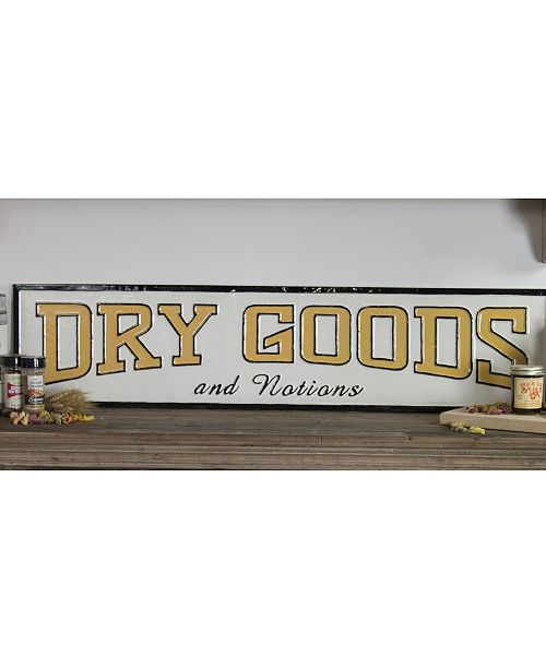 "VIP Home & Garden VIP Home International Metal ""Dry Goods"" Sign"