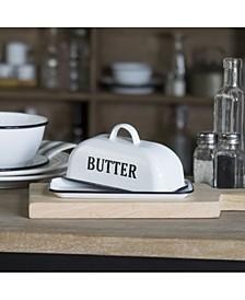VIP Home International Metal Enamel Butter Dish