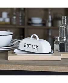 VIP Home International Metal Enamel Butter Dish