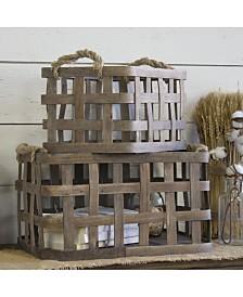 VIP Home International 2-Piece Wood Baskets