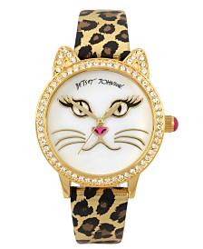 Betsey Johnson Cat Face Motif Watch 36mm