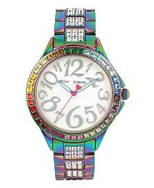 Betsey Johnson Rainbow Case & Bracelet Watch 40mm