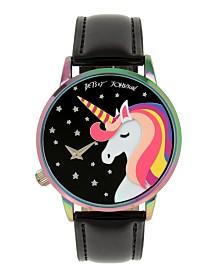 Betsey Johnson Unicorn Motif Dial Rainbow Watch 41mm
