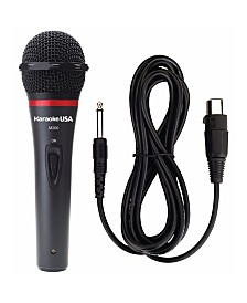 Karaoke USA Professional Microphone with Durable Metal Body and Grill Removable Cord