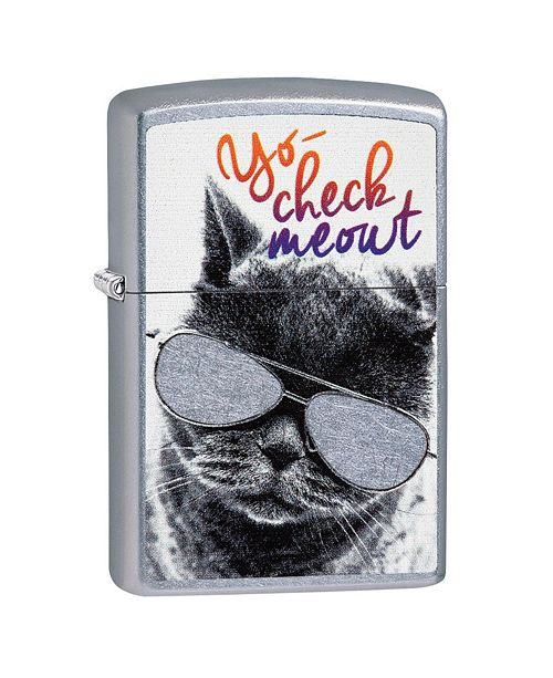 Sportsman's Supply Zippo Cat with Glasses Lighter
