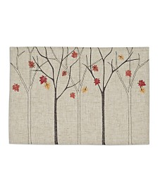Design Imports Falling Leaves Embroidered Placemat Set