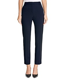 Stretch Crepe Essex Straight-Leg Dress Pants