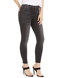 Brie High-Rise Raw-Hem Skinny Jeans