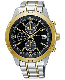 Men's Chronograph Two-Tone Stainless Steel Bracelet Watch 43.5mm