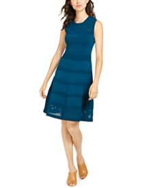 Vince Camuto Petite Fit & Flare Sweater Dress