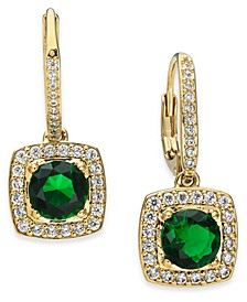 Cubic Zirconia & Glass Drop Earrings, Created For Macy's
