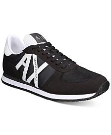 Armani Exchange Men's Retro Logo Low-Top Sneakers