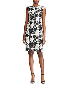 Two-Tone Floral-Lace Dress
