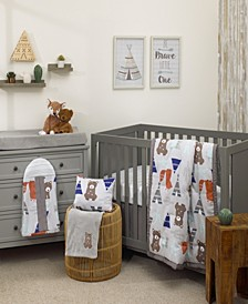 Animal Tribe 8-Piece Crib Bedding Set