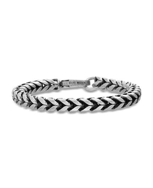 Steve Madden Men's Twisted Curb Chain Bracelet