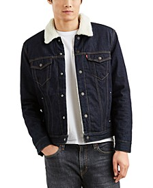 Men's Big & Tall Fleece Lined Trucker Jacket