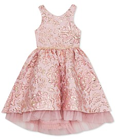 Big Girls Brocade Fit & Flare Dress