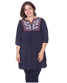 Women's Plus Size Marcella Embroidered Dress