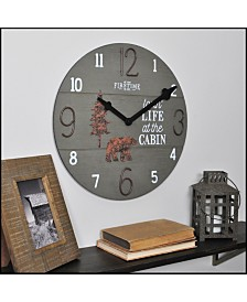 """Firstime & Co 15.5"""" Cabin Life Wall Clock"""