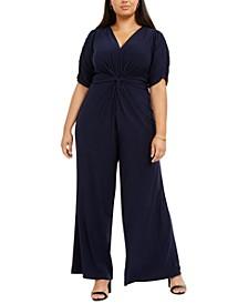Plus Size Twist-Front Jumpsuit