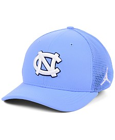 Jordan North Carolina Tar Heels Aerobill Swooshflex Stretch Fitted Cap