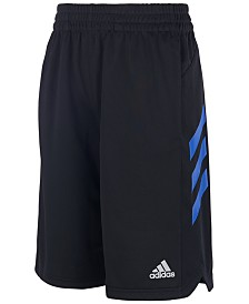 adidas Little Boys Angled 3-Stripes Shorts