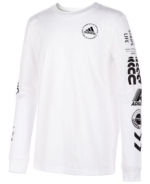adidas Big Boys Graphic-Print Cotton T-Shirt