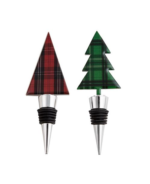 Thirstystone CLOSEOUT! Plaid Bottle Stoppers, Set of 2