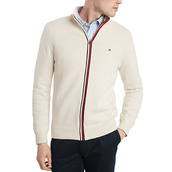Tommy Hilfiger Men's Rhodes Regular Fit Full Zip Sweater