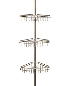 3-Tier Stainless Steel Spring Tension Shower Caddy