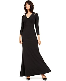Split-Shoulder Gown