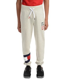 Tommy Hilfiger Toddler Boys Kent Logo-Print Heather Fleece Sweatpants