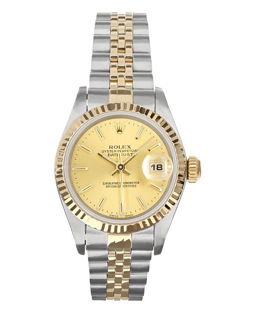 Pre-Owned Rolex Ladies TT Datejust Jubilee With Champagne Dial