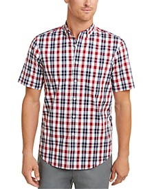 Men's Regular-Fit Stretch Plaid Shirt, Created For Macy's