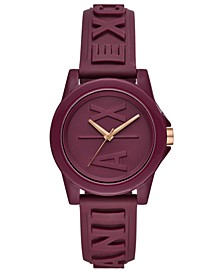 Women's Lady Bank Bordeaux Silicone Strap Watch 40mm