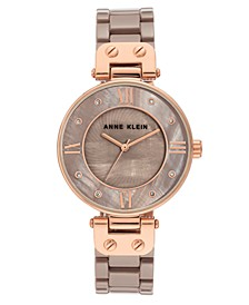 Women's Taupe Cermaic Bracelet Watch 34mm