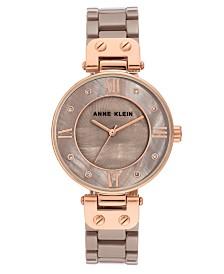 Anne Klein Women's Taupe Cermaic Bracelet Watch 34mm