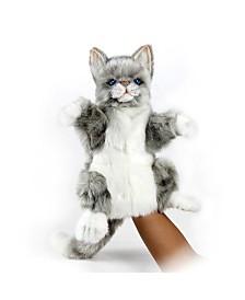 Hansa Cat Jacquard Hand Puppet Plush Toy