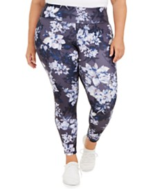 Ideology Plus Size Botanic Printed Leggings, Created for Macy's