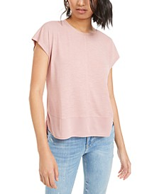 Mixed-Media T-Shirt, Created for Macy's
