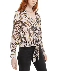 Printed Semi-Sheer Blouse, Created For Macy's