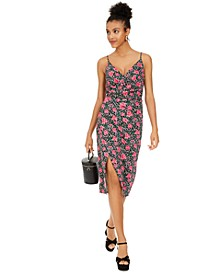Rose Leopard-Print Sheath Dress