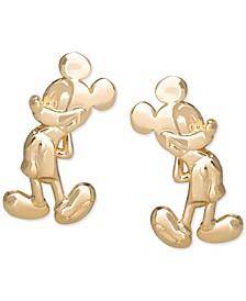 Children's Mickey Mouse Stud Earrings in 14k Gold