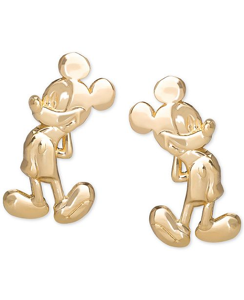 Disney Children's Mickey Mouse Stud Earrings in 14k Gold