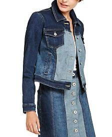 I.N.C. Denim Patchwork Jacket, Created for Macy's