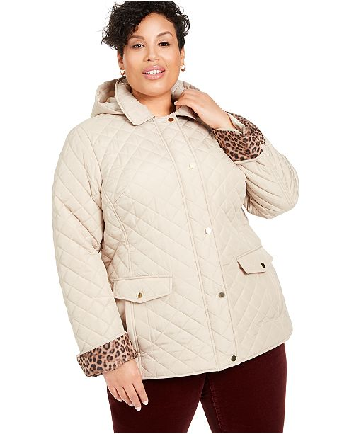 Plus Size Quilted Jacket Created For Macy S