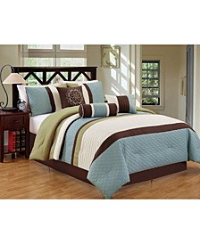Petersburgh 7 Piece Comforter Set, Cal King