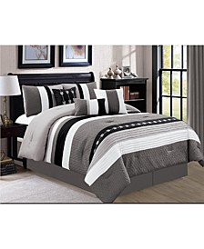 Broadwell 7 Piece Comforter Set, Cal King