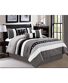 Luxlen Broadwell 7 Piece Comforter Set, Cal King