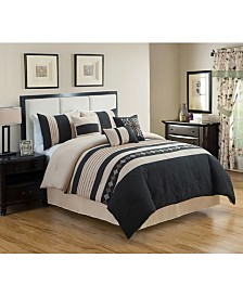 Luxlen Rachita 7 Piece Comforter Set, Queen